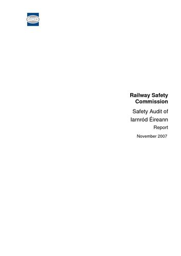 Publication cover - Safety Audit Irish Rail 2007